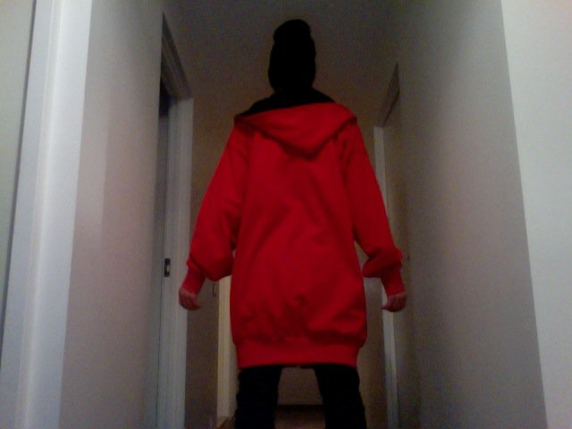Red Zip-Hood - Back