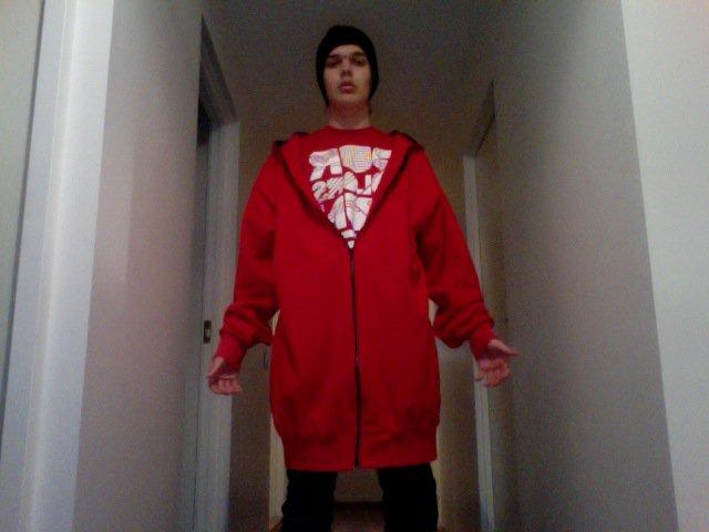 Red Zip-Hood