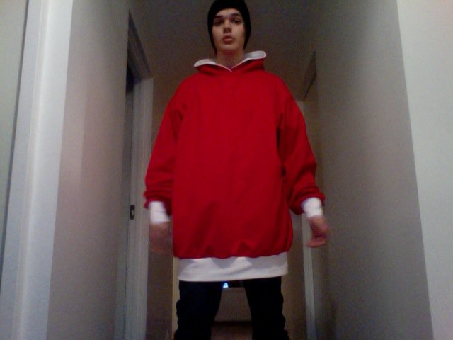 Red - White Hoodie
