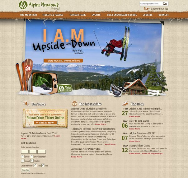 Alpine meadows website