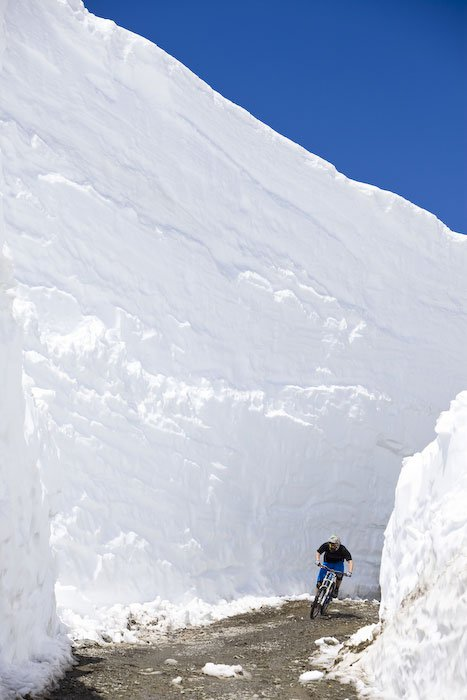 Deep summer snow