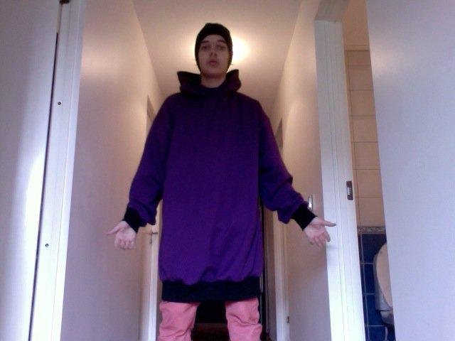 Purple - Black Hoodie