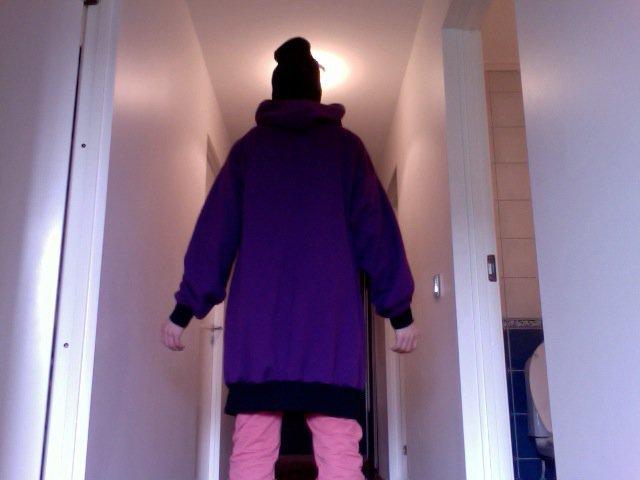 Purple - Black Hoodie - Back