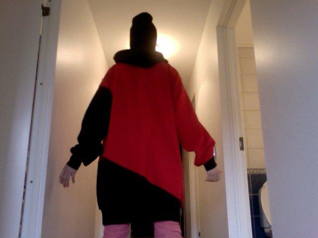 Red/ Black Hoodie - Back