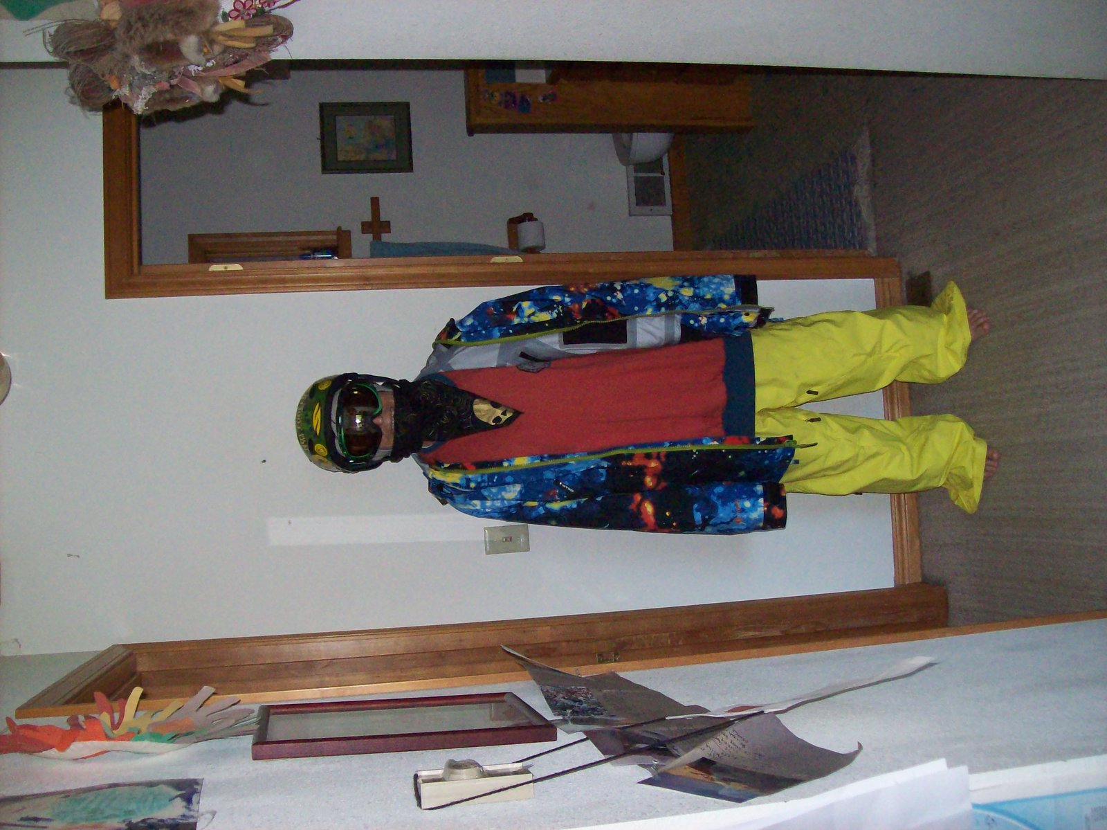 Mom in ski gear