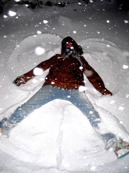 I love snow this much