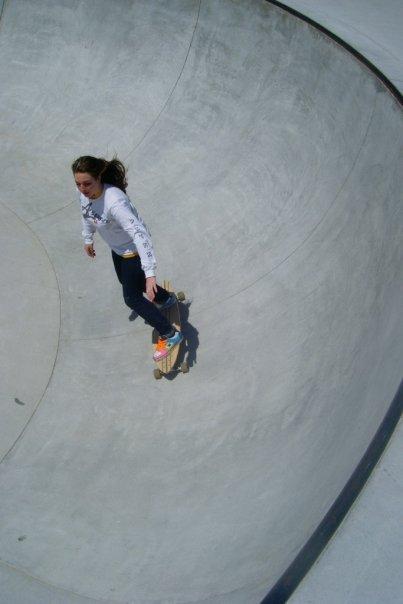 Longboarding in the skate park