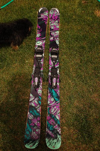 The skis!
