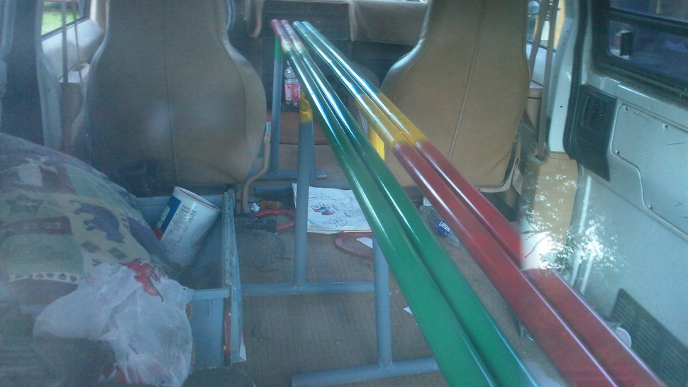 Portable 8' double barrel rasta rails