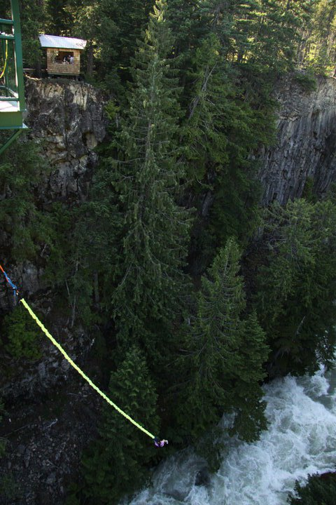 Bungee jumping 130 FEET - 2 of 2