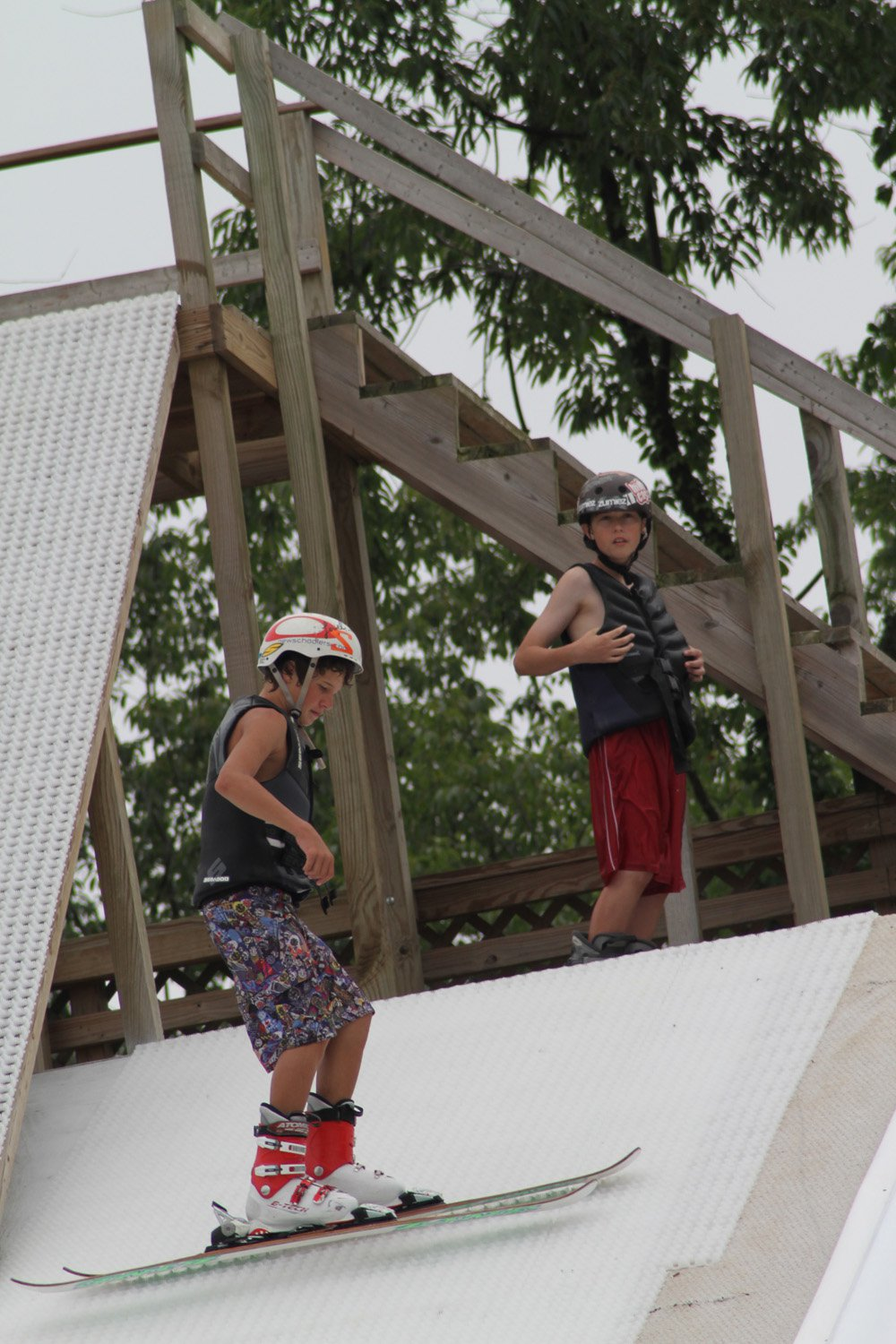 Campers Ready to Hit Water Ramp
