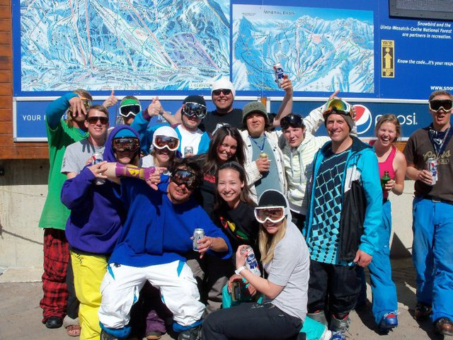 Last day of the season at the Bird with an epic crew