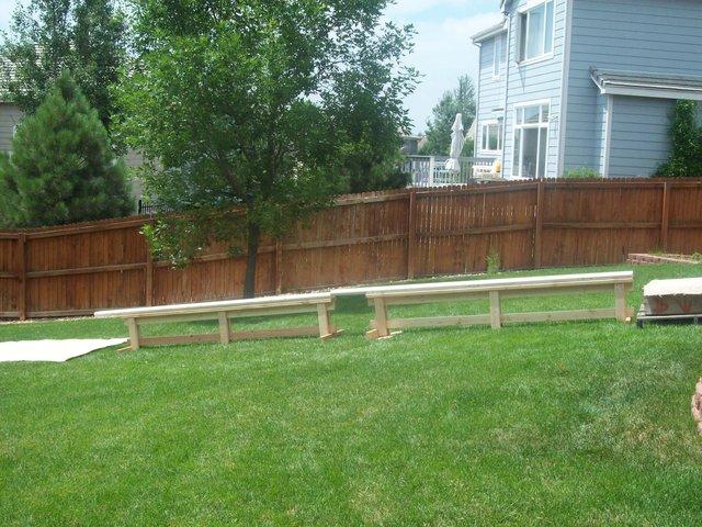 Backyard summer set up