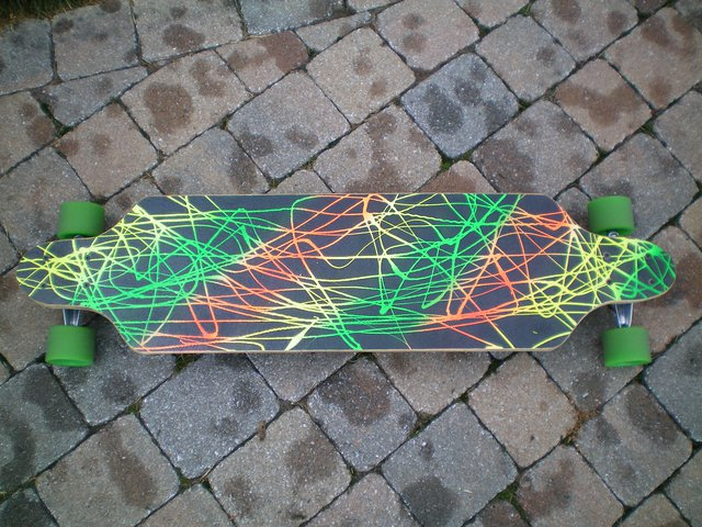 """Longboard for sale. 38"""" open wheel brand new"""