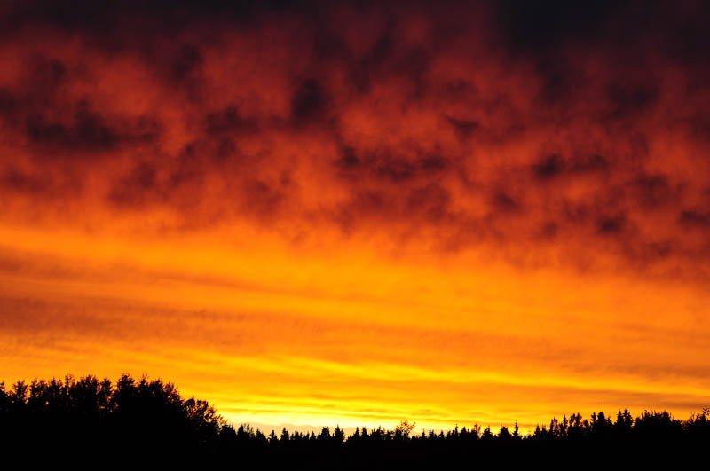 Sick sunset  10:30 pm