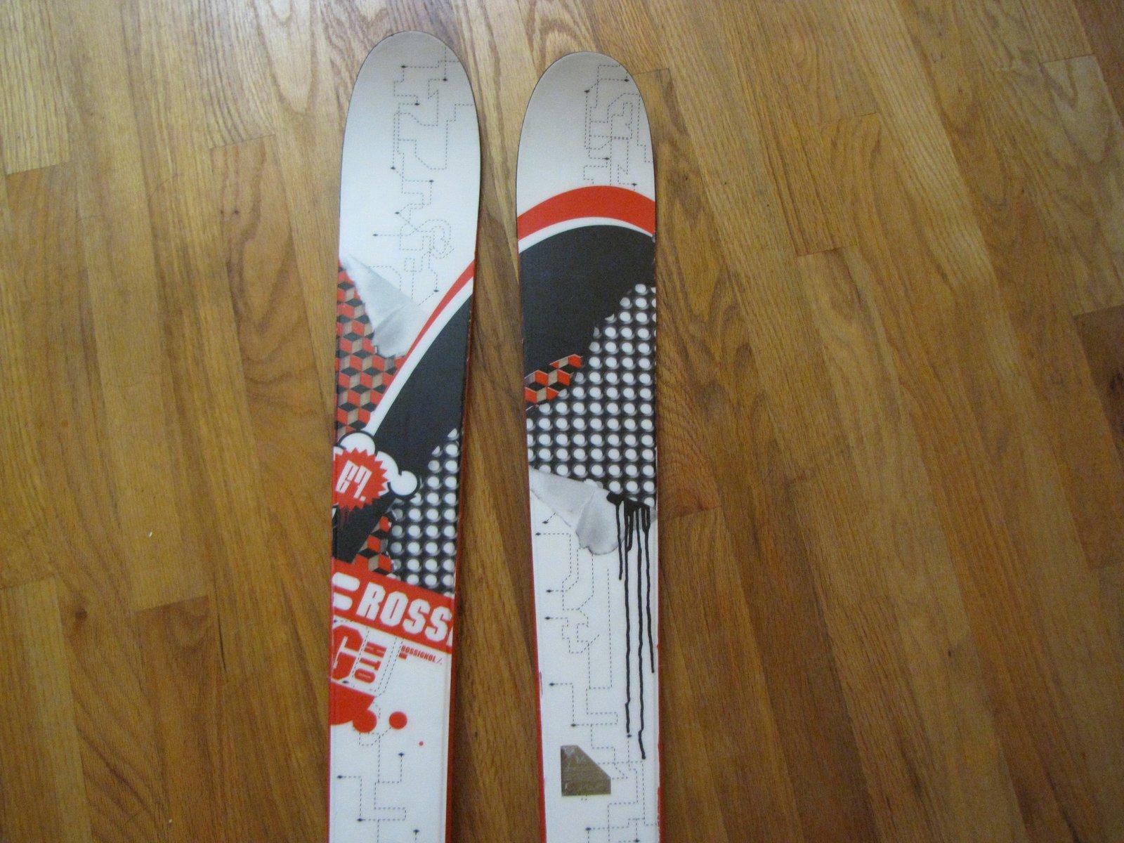 2008 Rossignol Ghetto skis 167cm