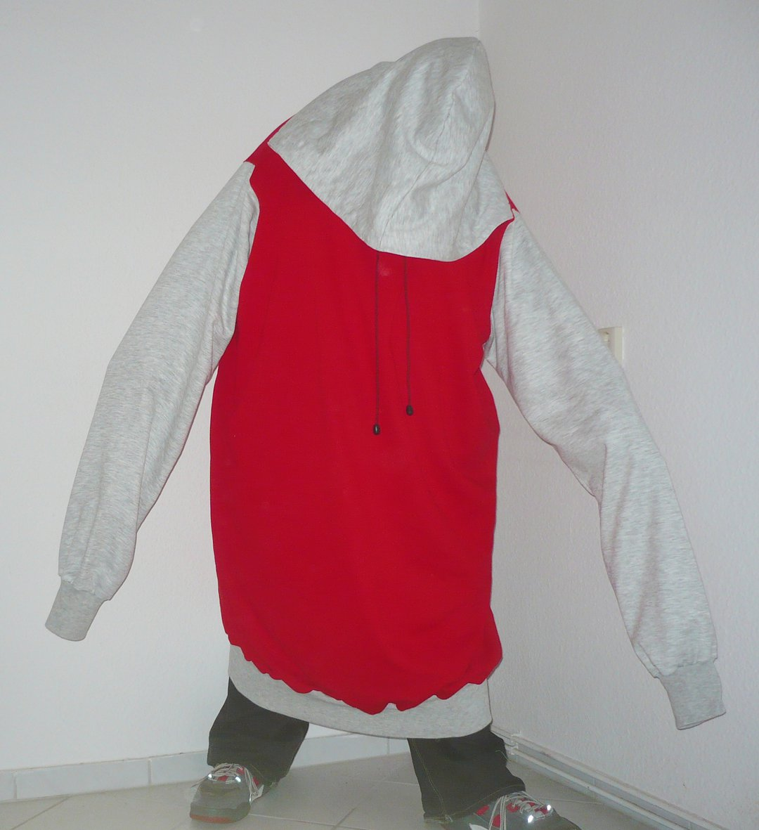 Tall red hoodie 4