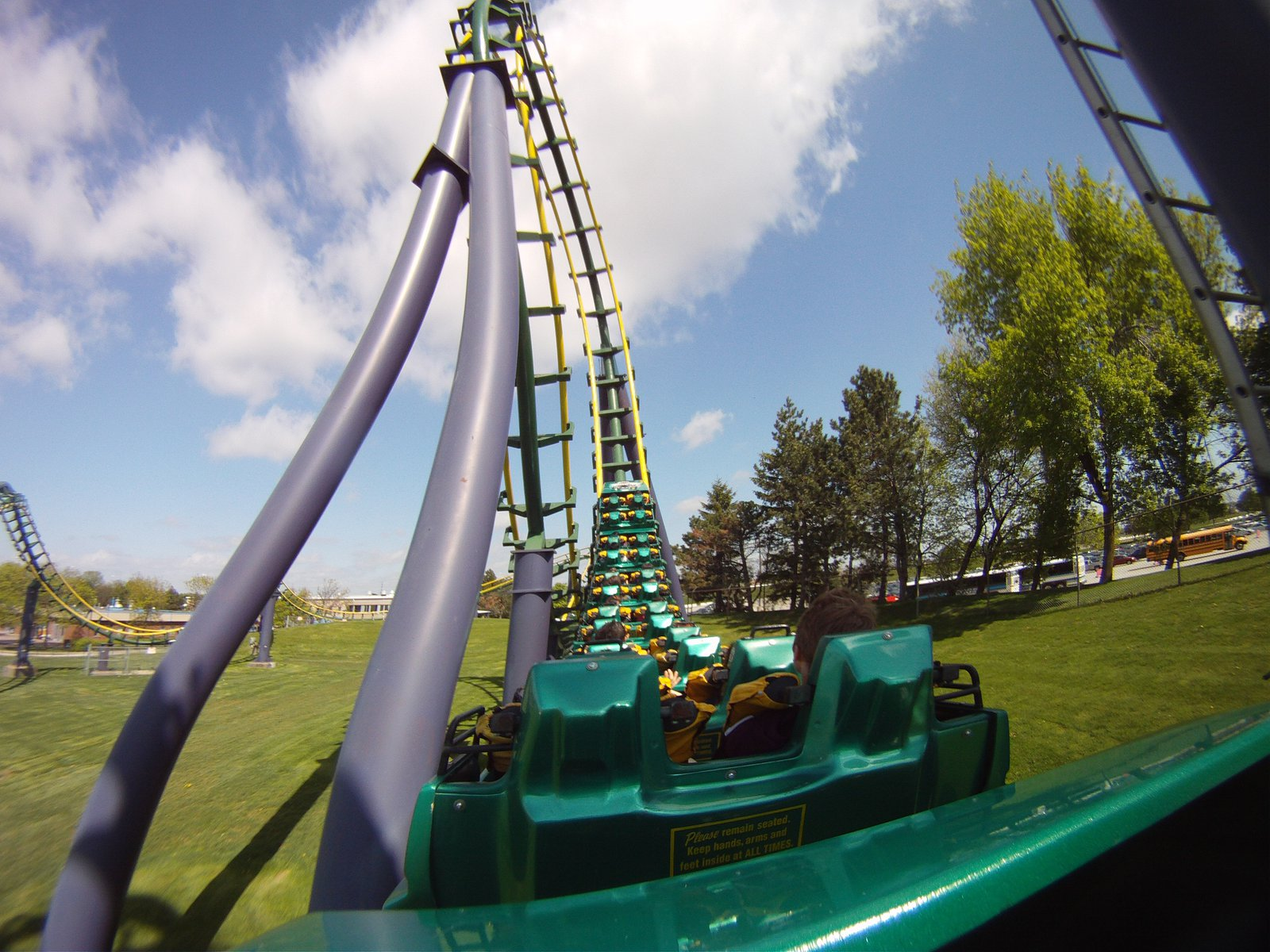 Dragon Fire, on ride