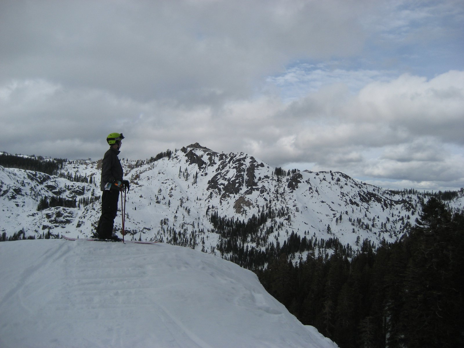 Pausing before Dropping in, Alpine Meadows