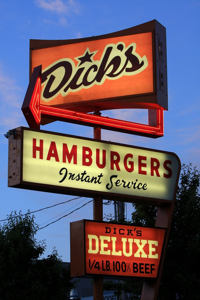 Dicks Burgers Seattle Washington.