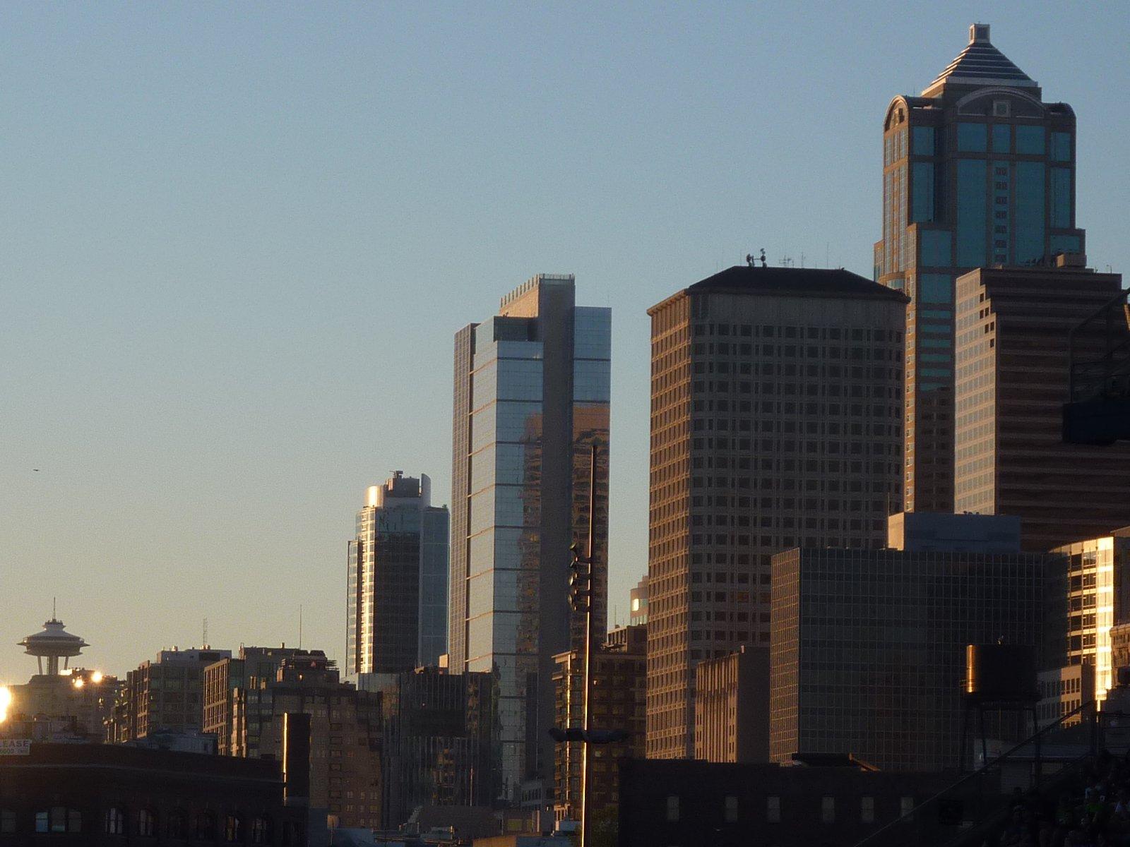Seattle skyline from Quest Field