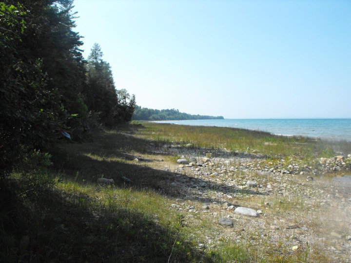 Beach in Mackinaw