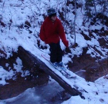 Bridge skiing