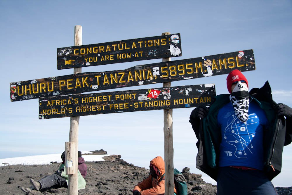 Newschoolers represented on the highest peak in Africa
