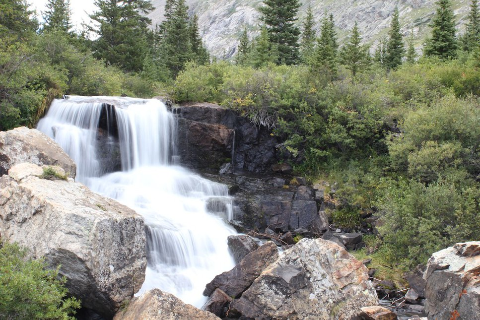 Waterfall near Mt. Quandry and Blue Lake