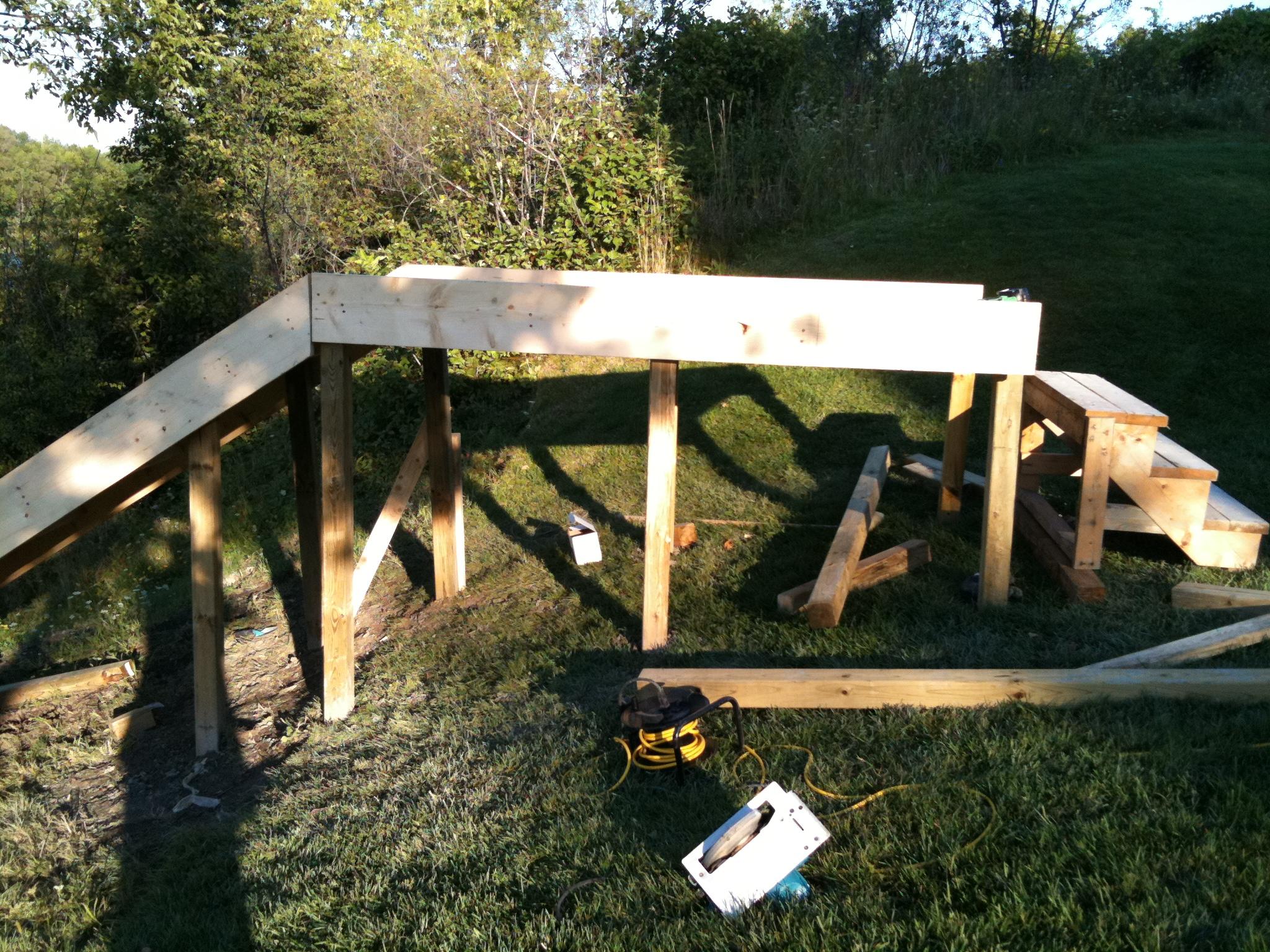 Water ramp construction 1