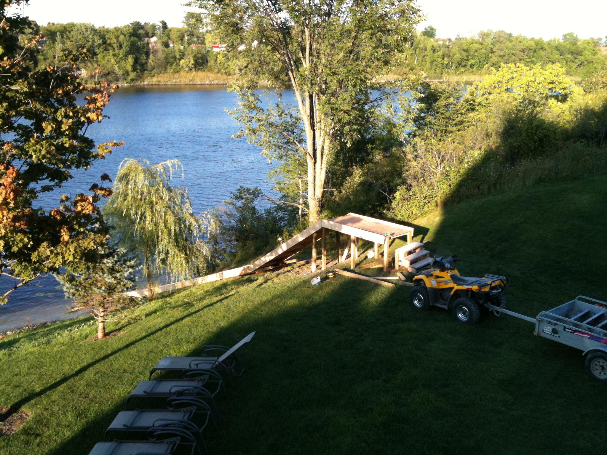 Water ramp construction 2