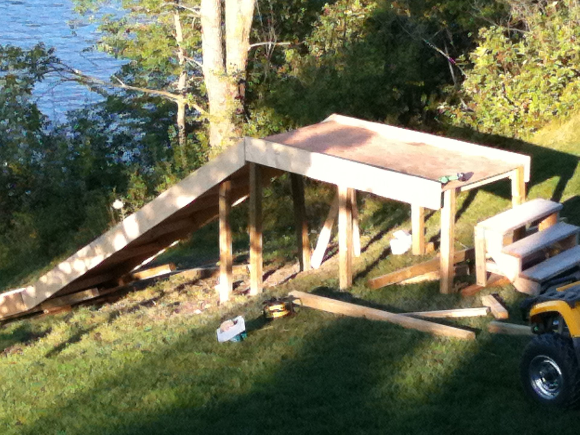Water ramp construction 3