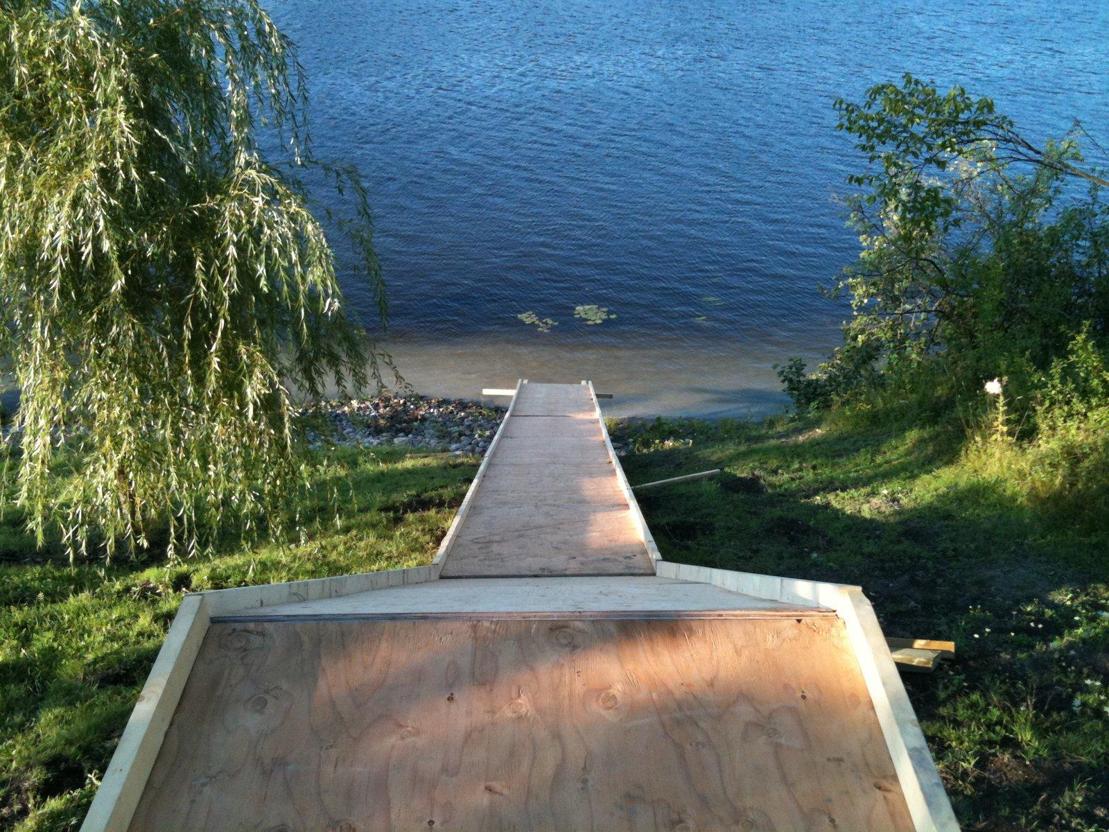 Water ramp construction 4