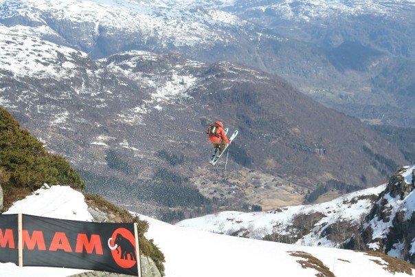 Haha, freeride skijumping