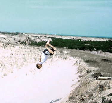 Sand dune superman
