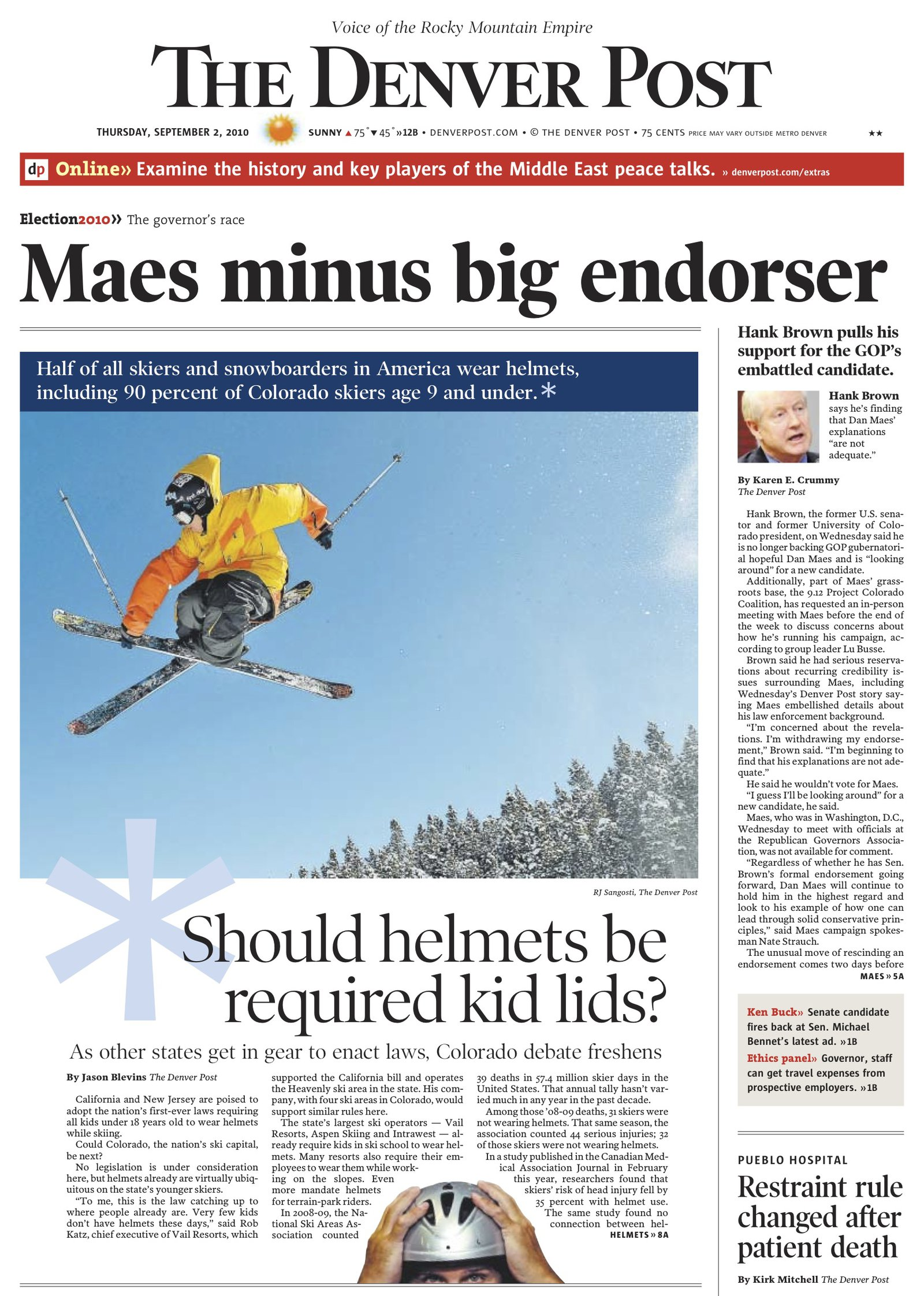 David Lesh/ First Drop front page Denver Post