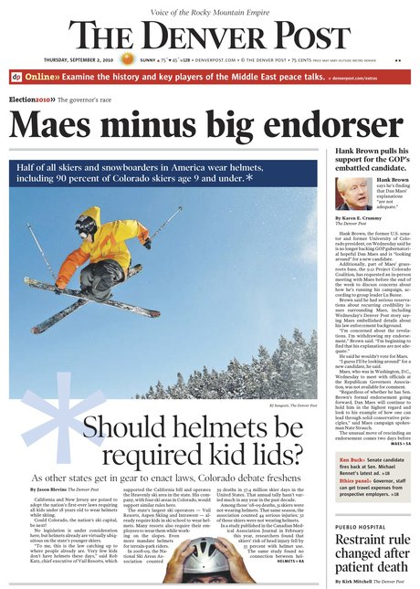 David Lesh/ First Drop front page Denver Post