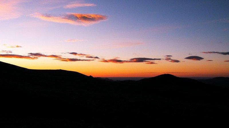 Sunrise at 13,000 feet