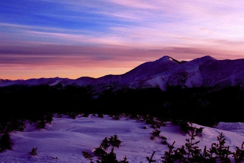 Sunrise at 12,000 feet