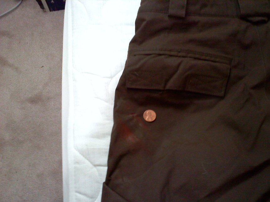 Brown Burton Pants - Little Rail Stain