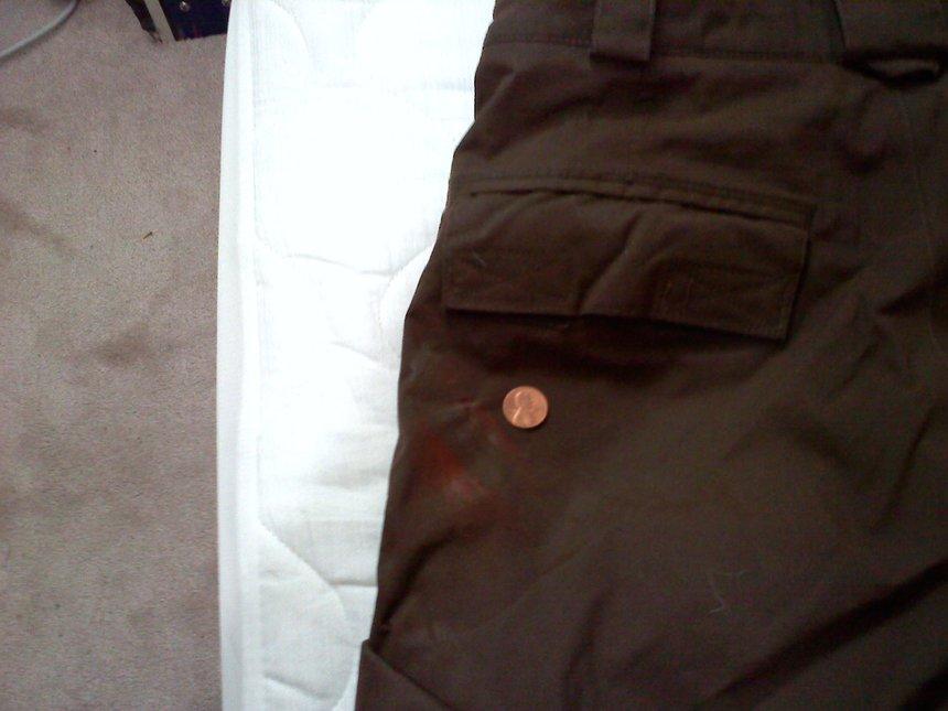 Brown Burton Pants - Little Rail Stain