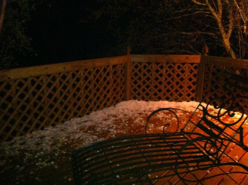 Snow? no... Hail...