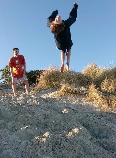 Backies at the Beach