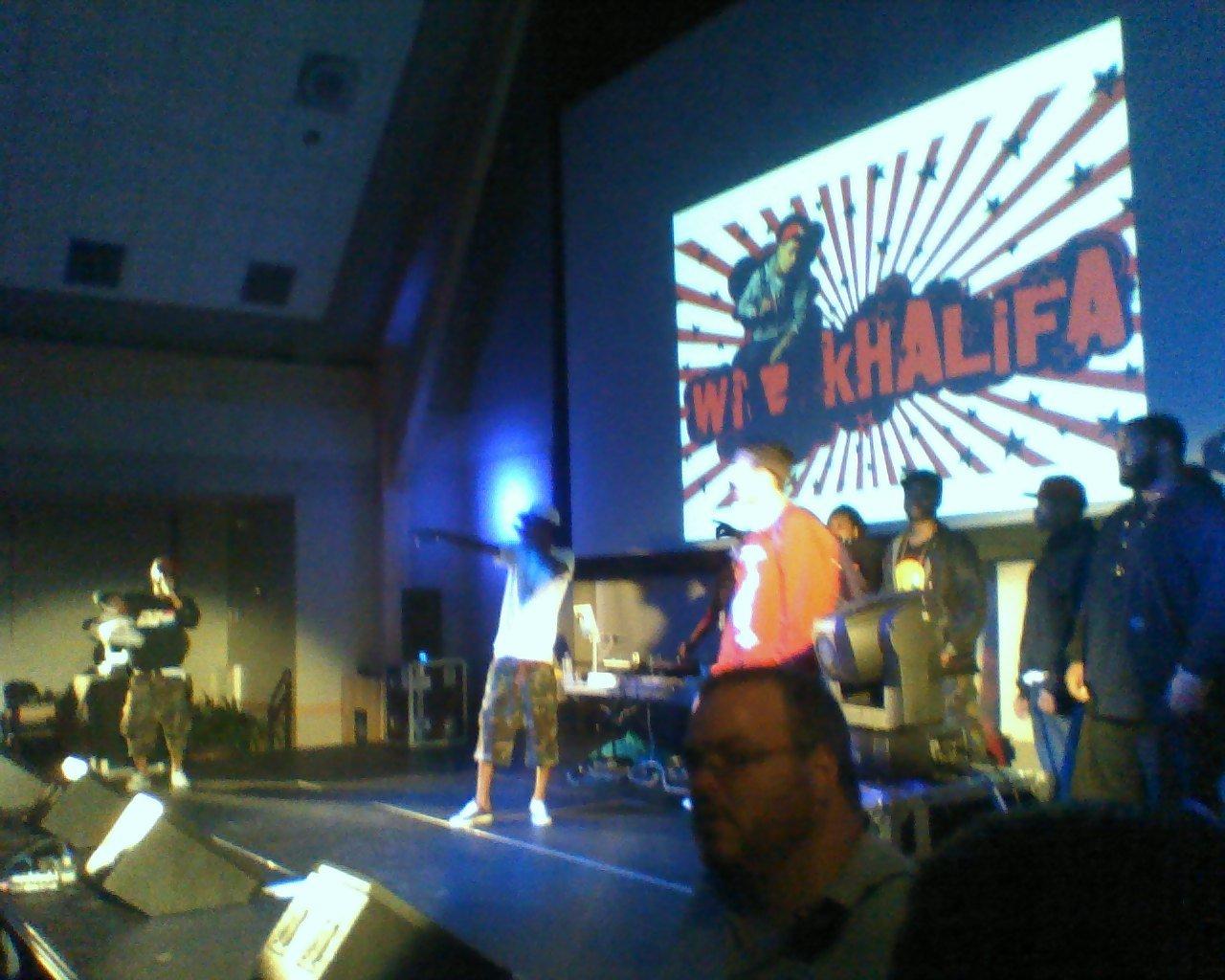 Backstage at Wiz