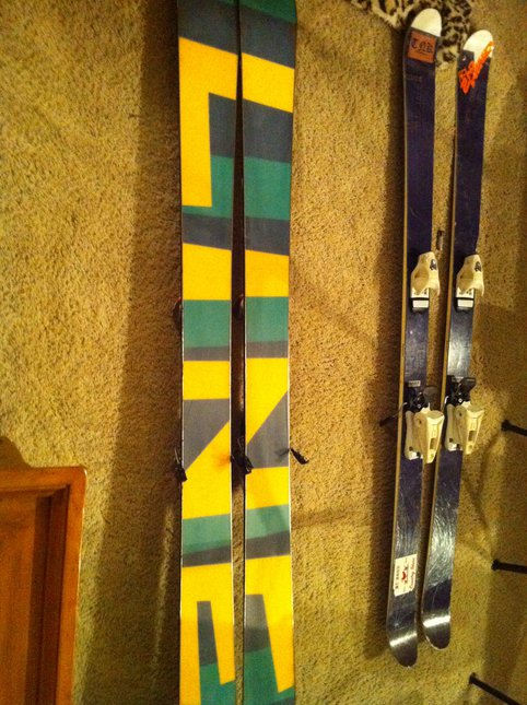 Bottom of me skis fs