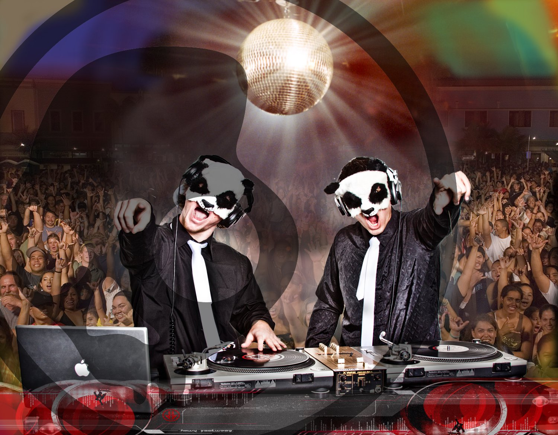 White panda photoshop