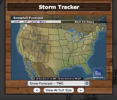Snow on map!