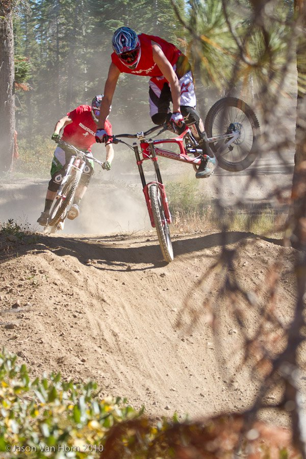 Greg Minnaar and Steve Peat