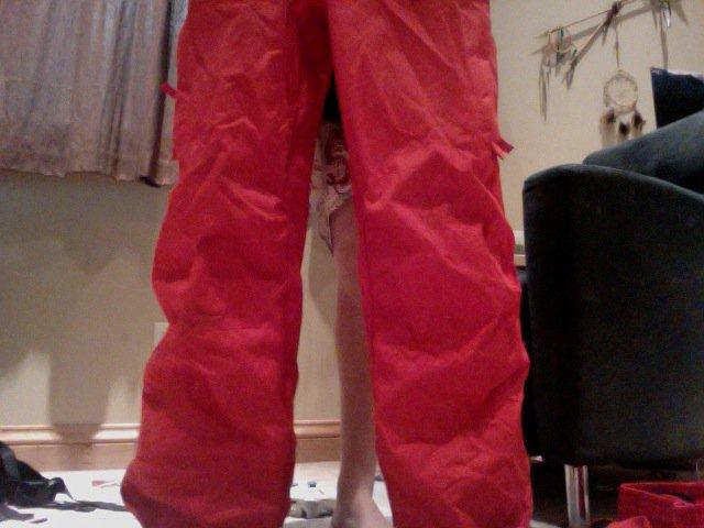 Red pantolones