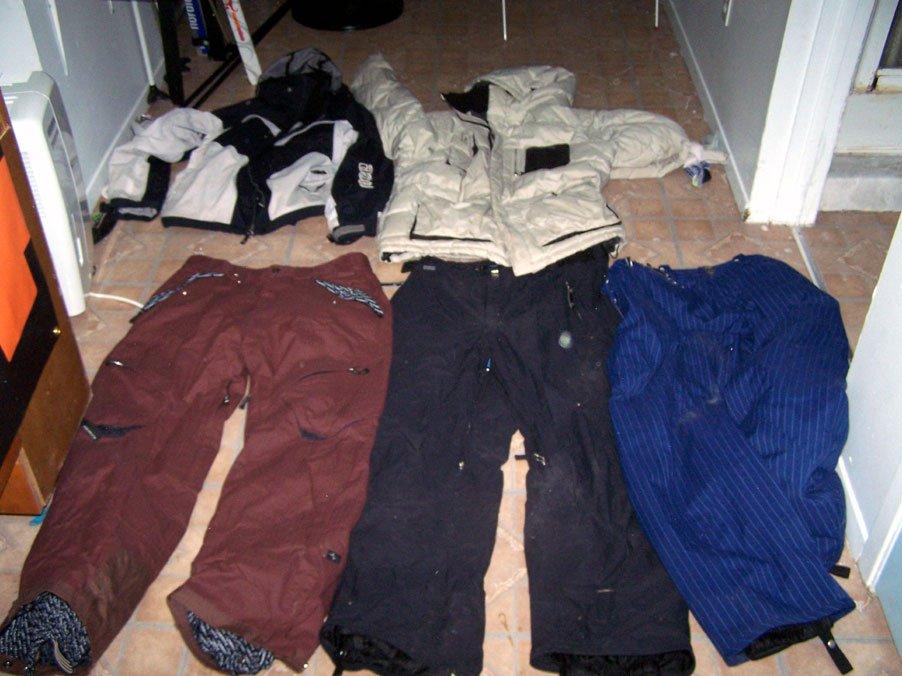 Pants and jacket